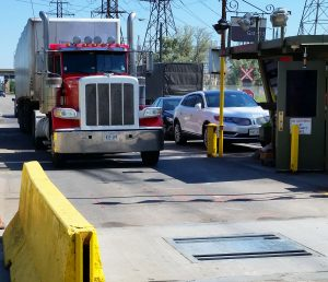 Truck at border checkpoint