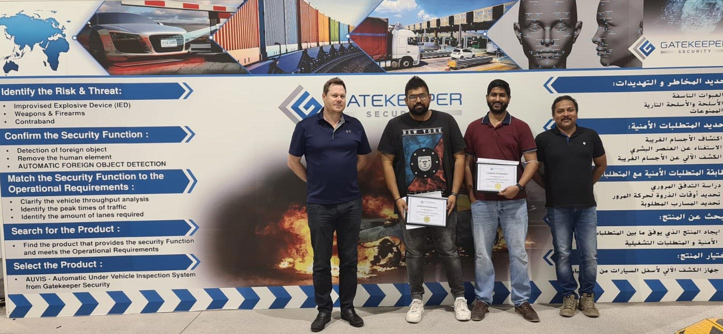 Congratulations to Newly Certified Gatekeeper Engineers who completed 3 days certification training in our Middle East office